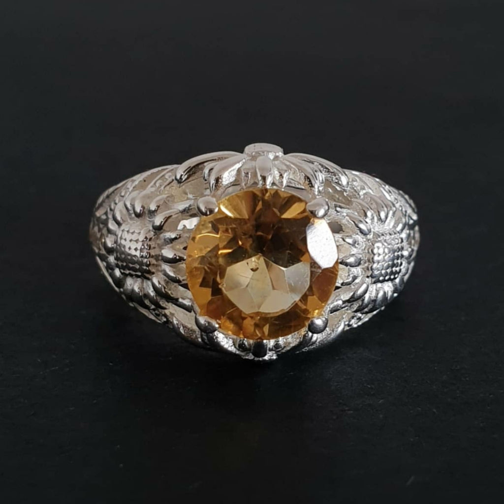 Mava Ring Bali Silver 925 Golden Citrine Stone
