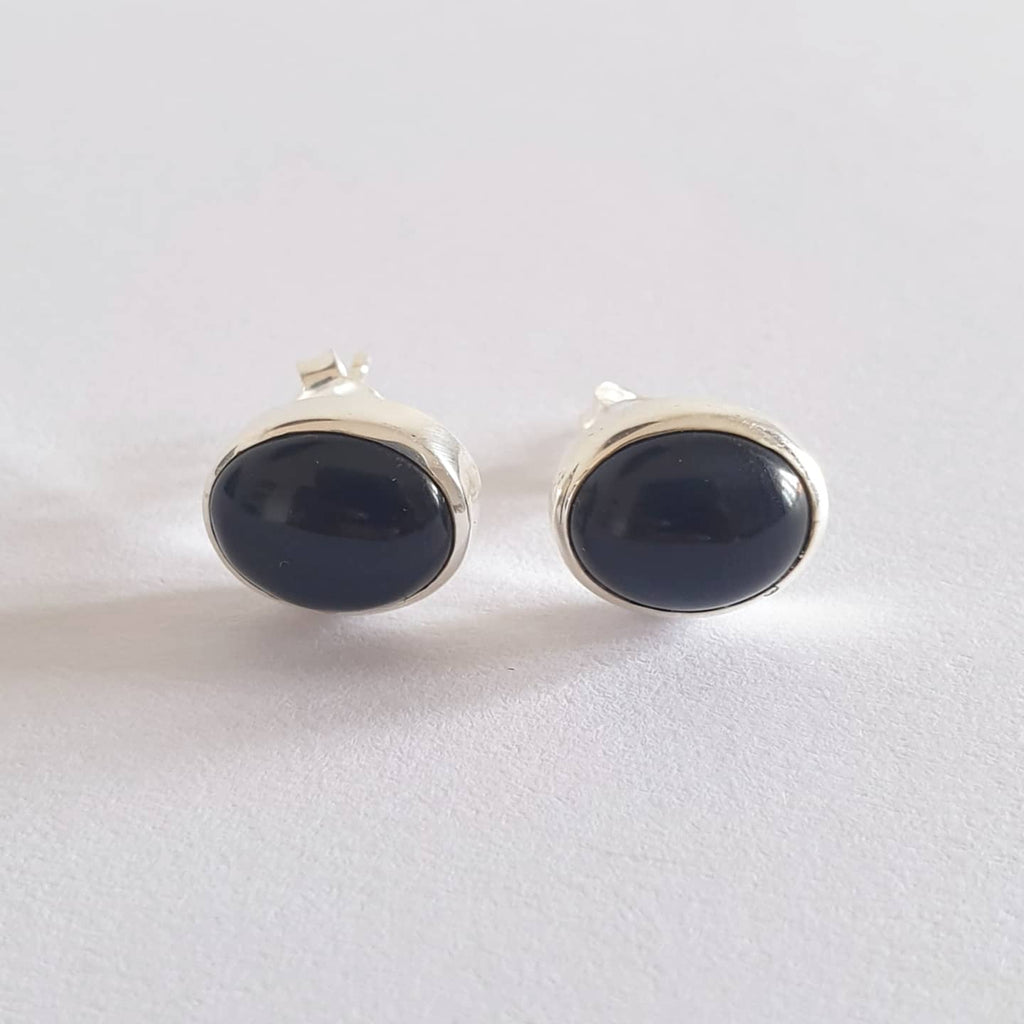 Pakendungan Earrings Bali Silver 925 Black Onyx Stone