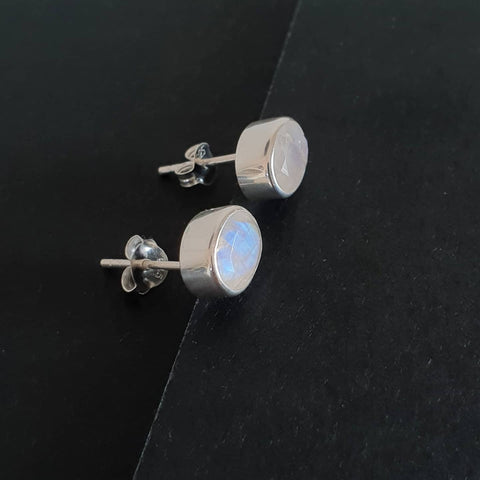 Pandawa Earrings Bali Silver 925 Rainbow Moonstone