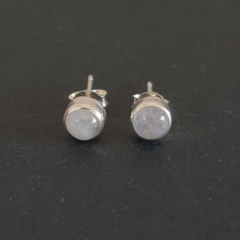 Sekaan Earrings Bali Silver 925 Rainbow Moonstone