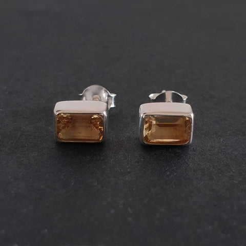 Waringin Pitu Earrings Bali Silver 925 Golden Citrine Stone