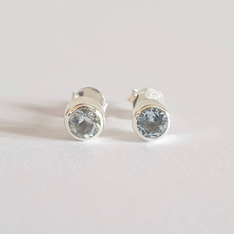 Widuri Earrings Bali Silver 925 Blue Topaz Stone