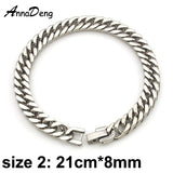 Men Bracelet Silver Color / Gold Color Black Stainless Steel Accessories - Bracelet couleur argent ou Or