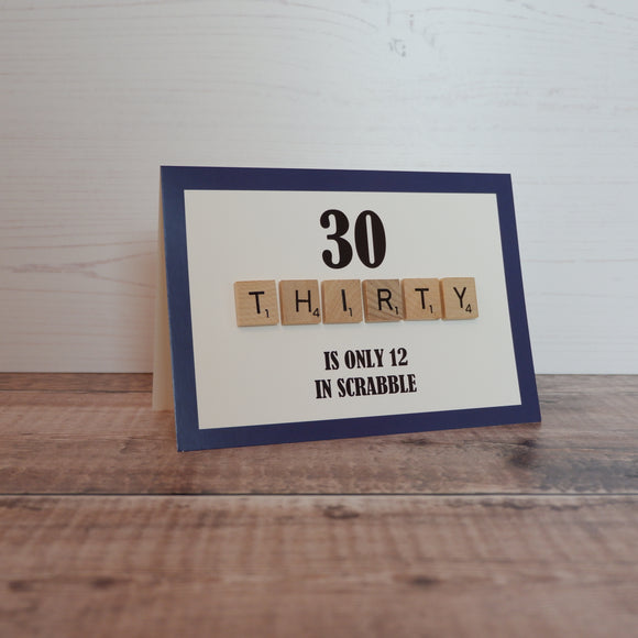 Scrabble 30th Birthday Card