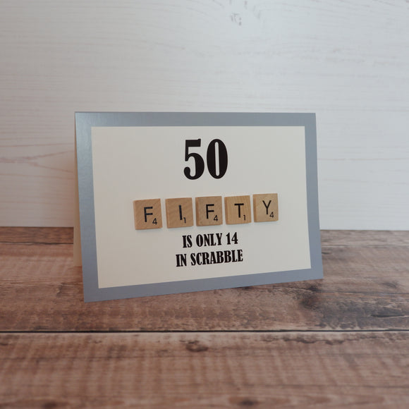 Scrabble 50th Birthday Card