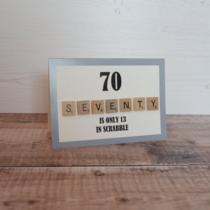 Scrabble 70th Birthday Card