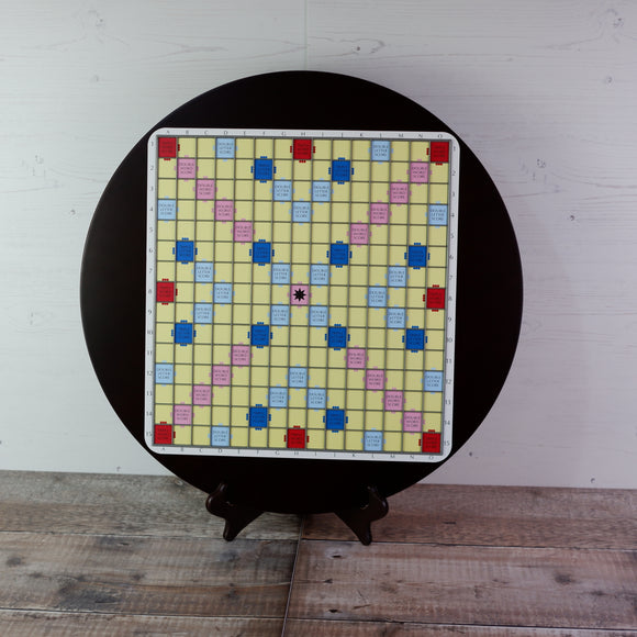 Premium Round Wooden Board - Yellow Surface