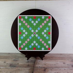 Premium Round Wooden Board - Green Surface