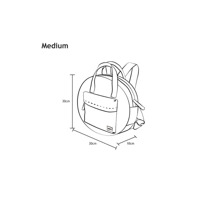 Roka Bags | Paddington B | Grey | Circle Backpack