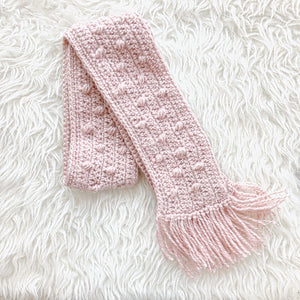 Crocheted Bobble Scarf