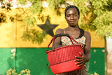 Afrikansk kurv - Fair Trade fra Ghana, MEDIUM