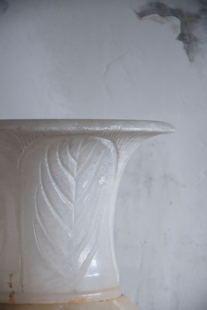 Antique Alabaster Urn