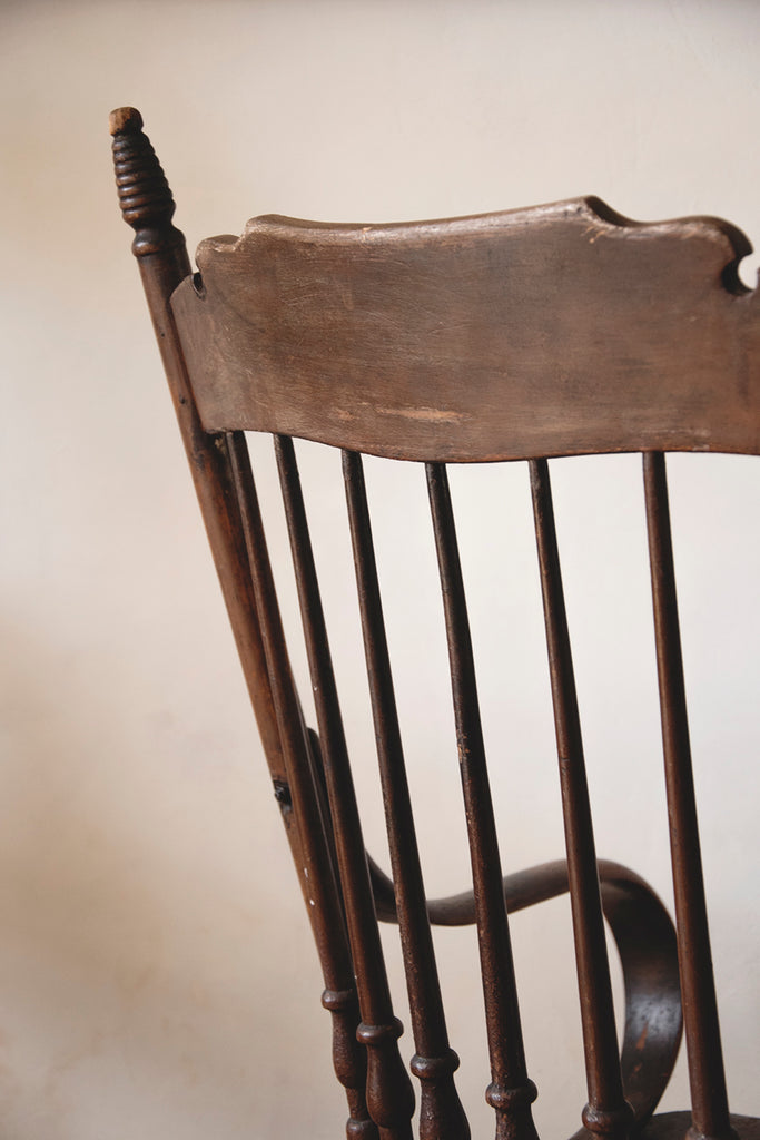 Antique American armchair, bentwood chair. Patina. Porch Chair. American antiques Bristol