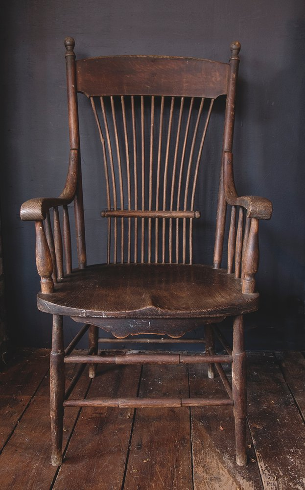 spindle back american armchair. decorative and function antiques bristol