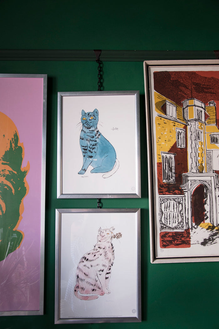 Andy Warhol Cats. Decorative artwork. Dig Haushizzle Bristol