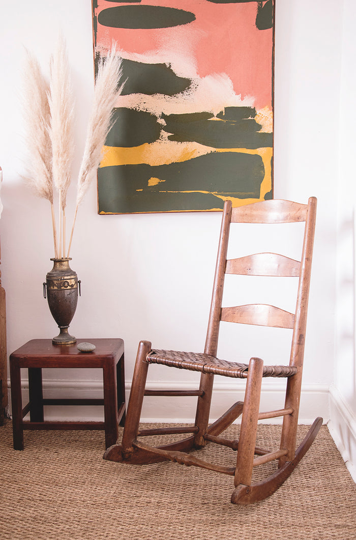 Ladder Back Antique rocking chair