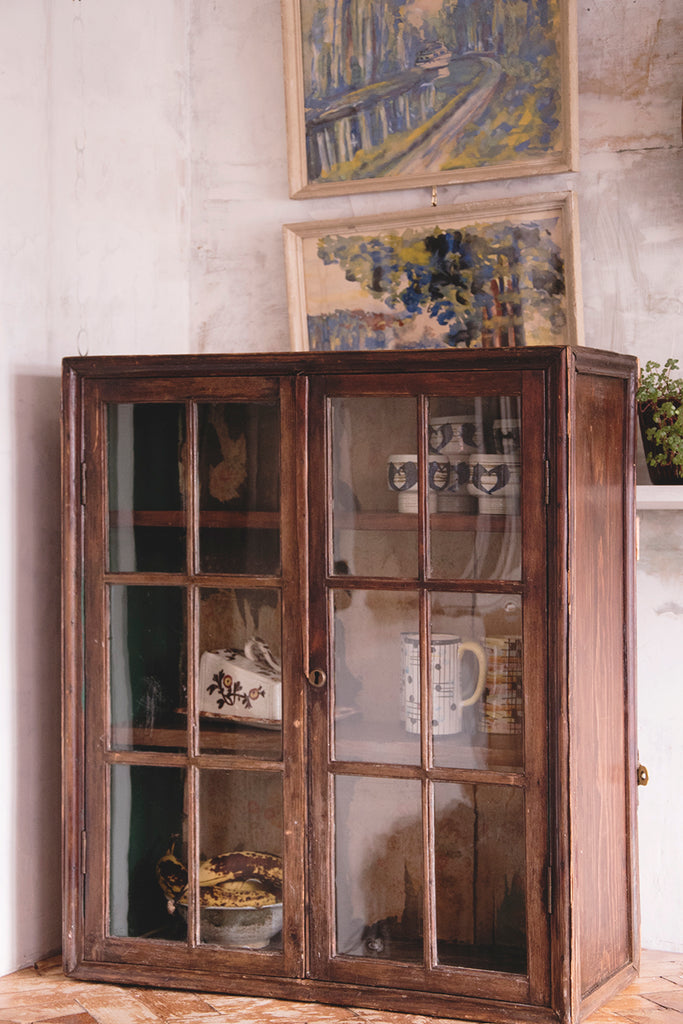 Vintage Glazed Cupboard