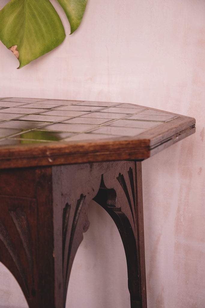 Arts and crafts antique side table. Cassie Nicholas Studios Bristol