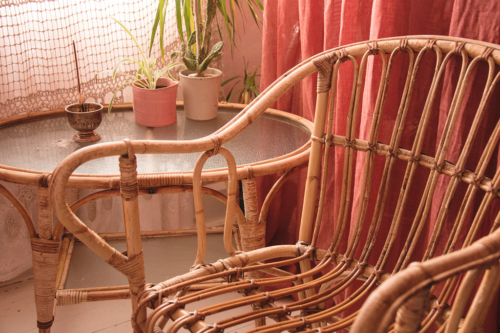 Curved Bamboo Chairs. Cassie Nicholas Interior Styling and Design