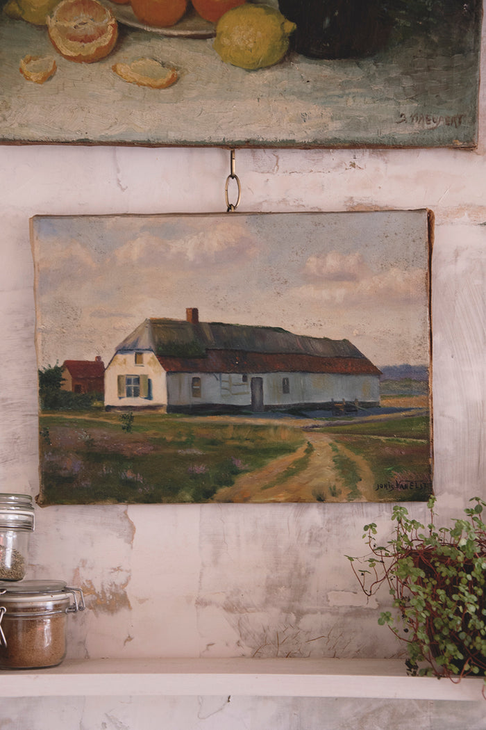 House Painting On Canvas - Joris Van Elst