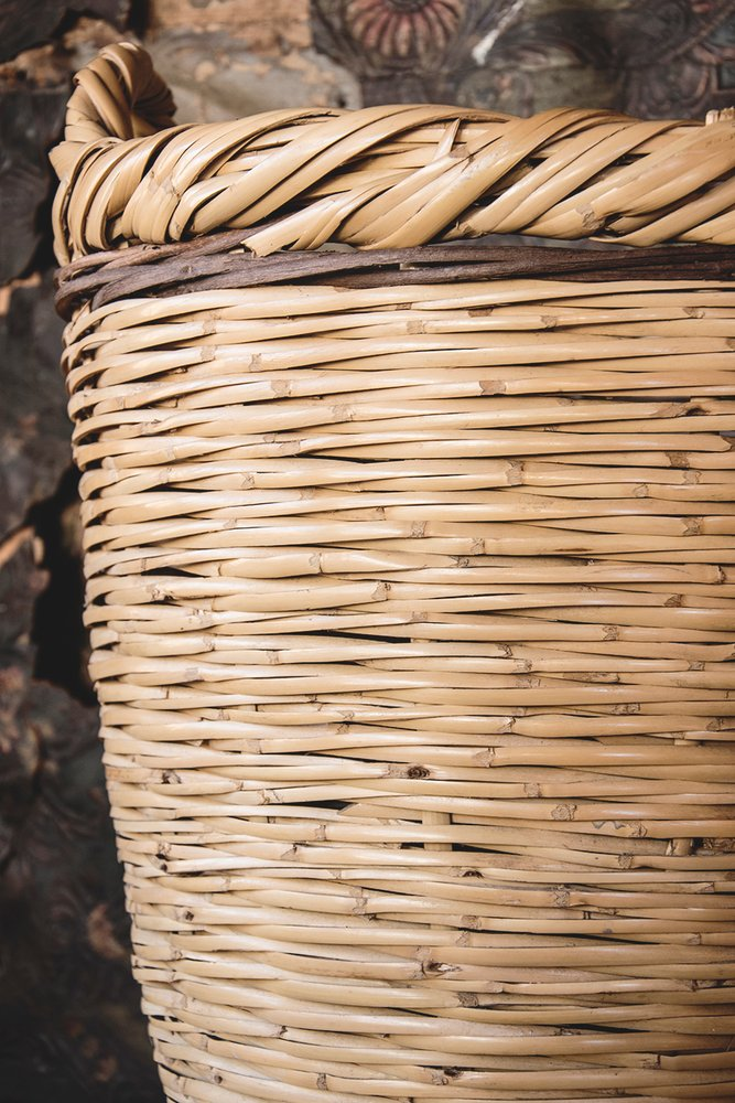 Original Hand woven laundry basket. Rustic country interior design. Dig Hauhsizzle Bristol