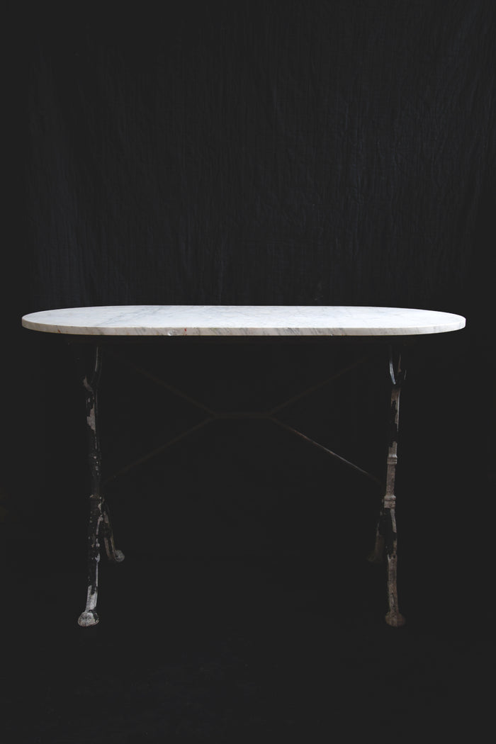 Large Vintage Marble Topped Table. Decorative interiors. Marble garden table. Bristol