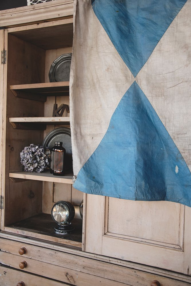 Antique Textiles. Decorative vinage flag. Interior design and photography styling Bristol Dig Haushizzle