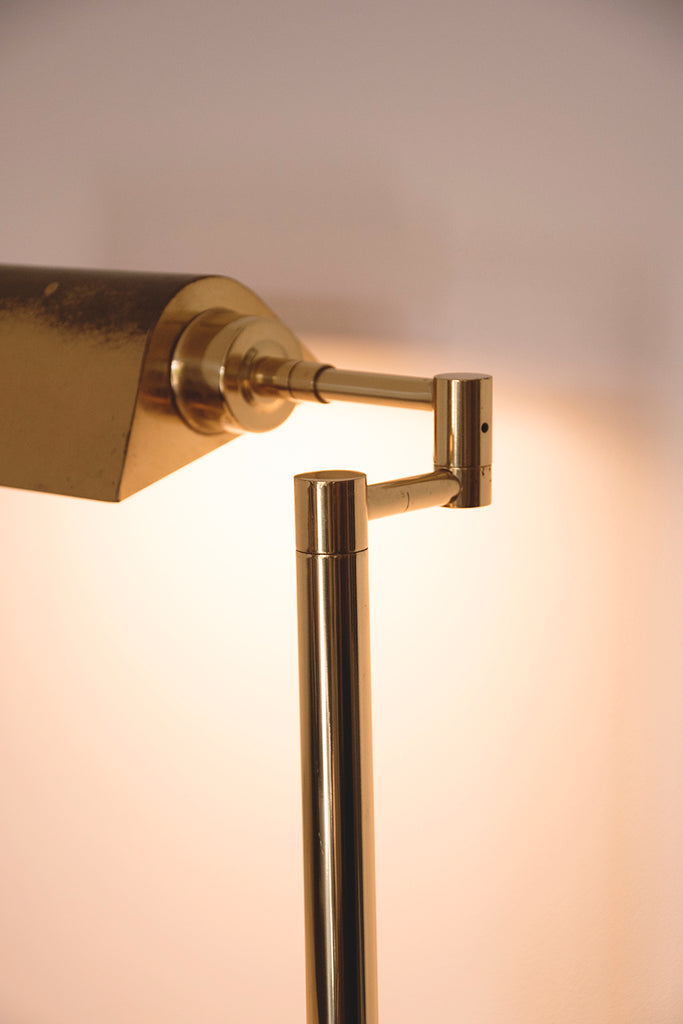 Brass bankers lamp. detailed product photography in Bristol Cassie Nicholas Studios