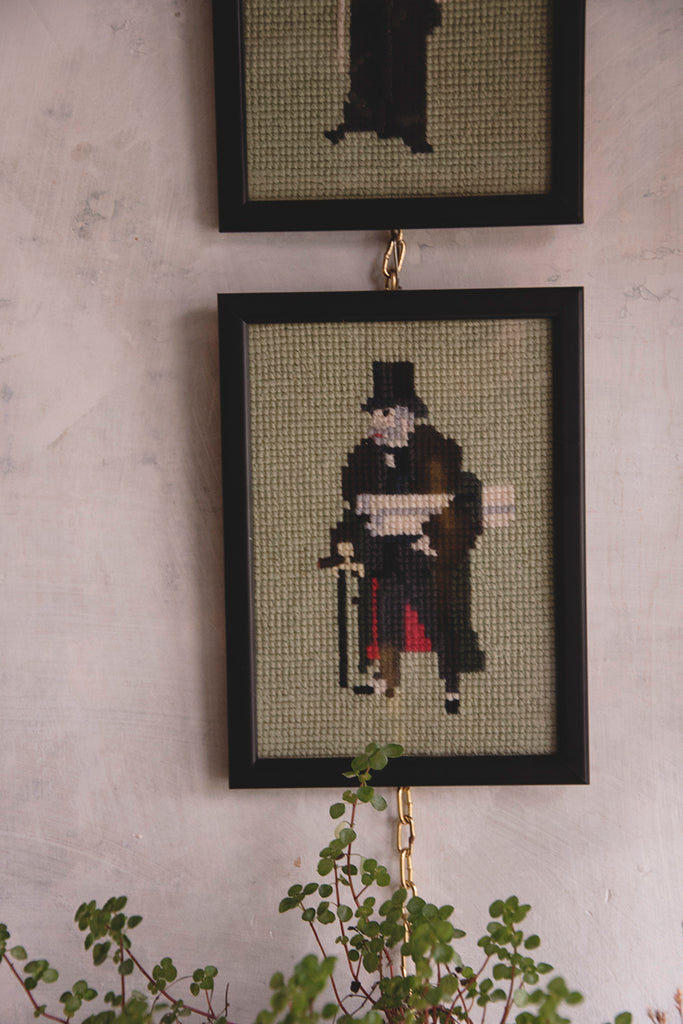 A pair of embroideries