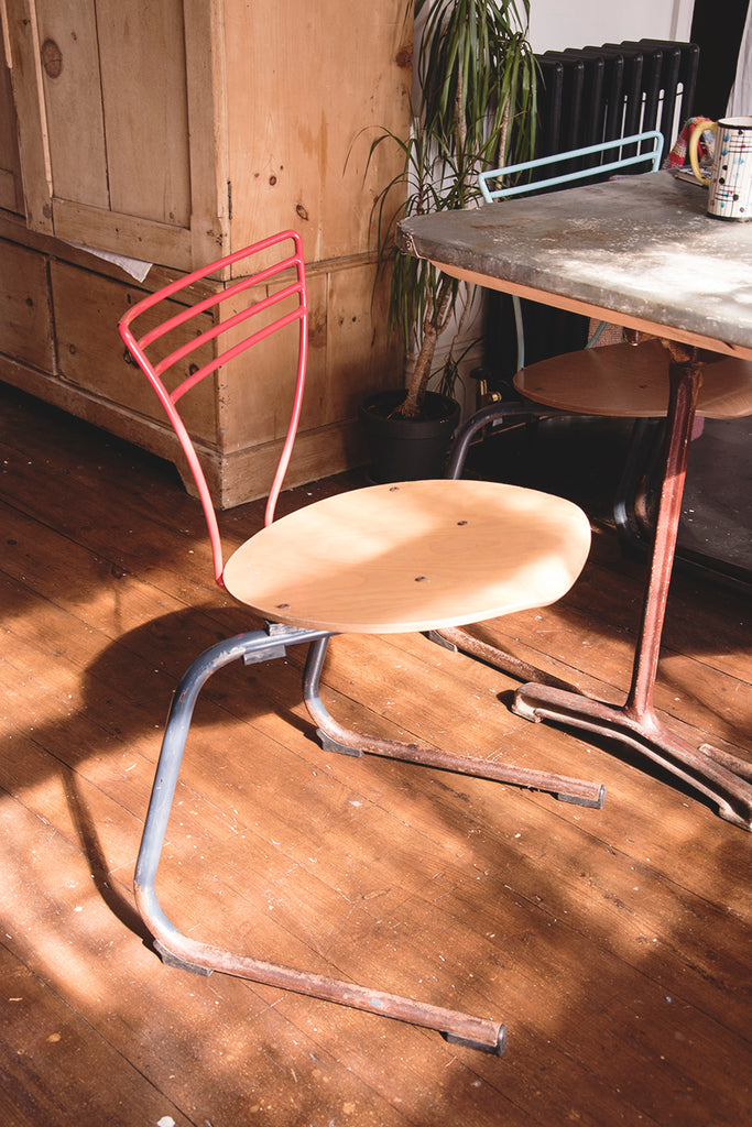 Set of 6 Vintage Stacking Chairs