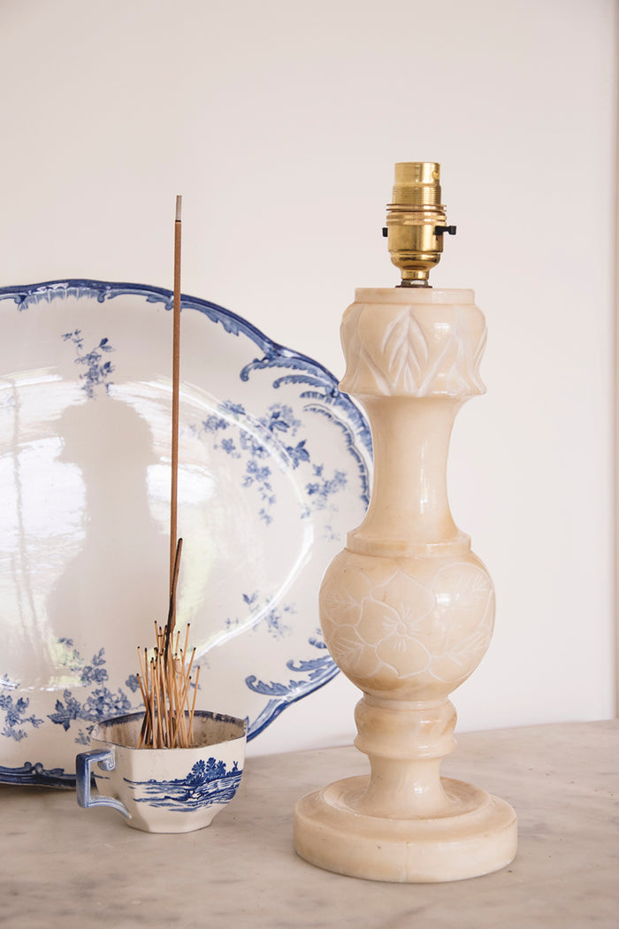Vintage alabaster lamp. Interiors and product photographer Cassie Nicholas Studios Bristol