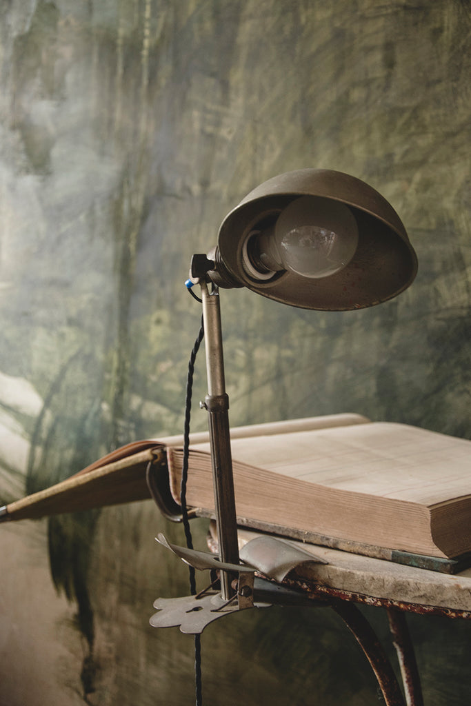 Vintage industrial clamp lamp