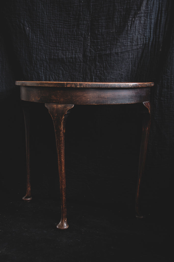 Wooden Console Table Patina. Semi Circular antique side table. Decorative Antique Furniture Bristol Dig Haushizzle