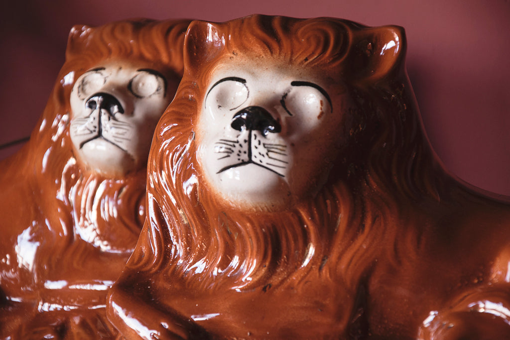 Decorative lion ornaments. interior styling and photography Dig Hauhsizzle Cassie Nicholas