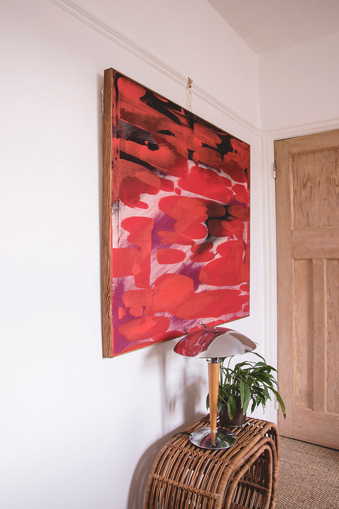 Large Contemporary painting in canvas by Edd Nicholas