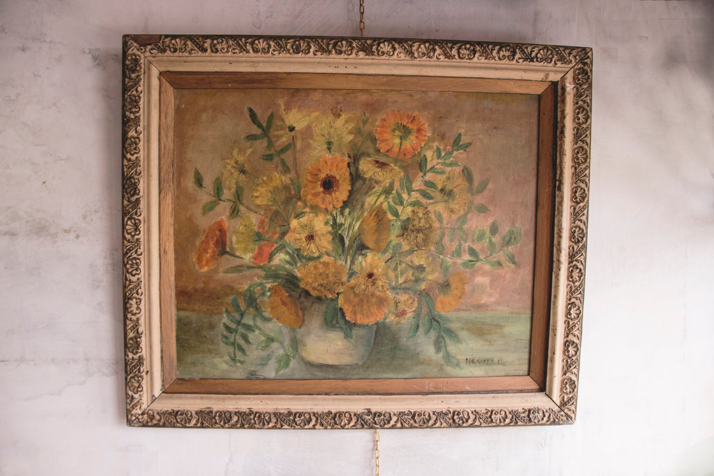 Framed Antique Oil Painting