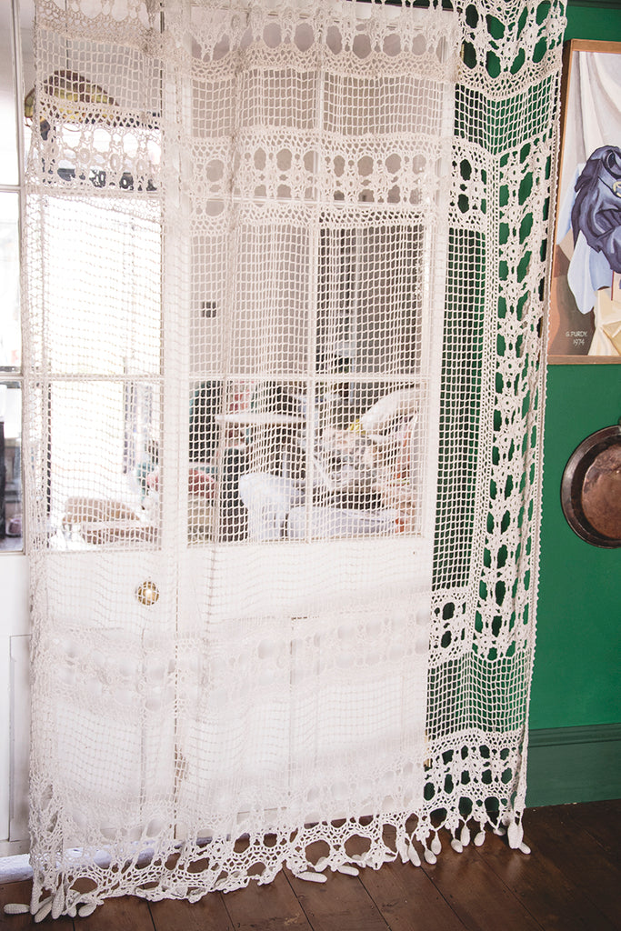 Vintage Crochet Curtain