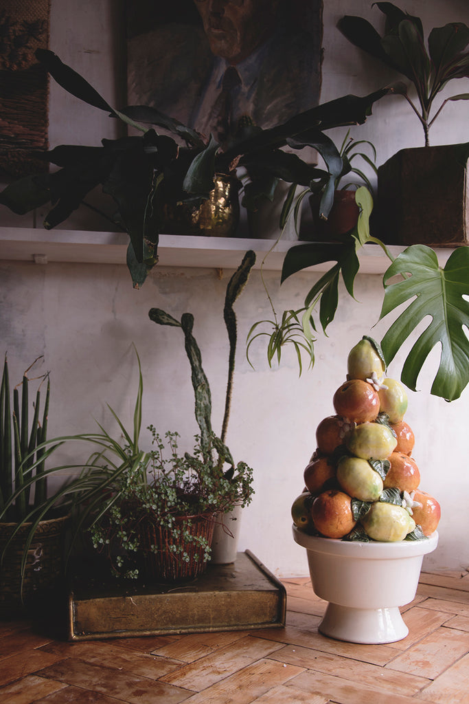 Vintage Ceramic Fruit Topiary. Cassie Nicholas Studio
