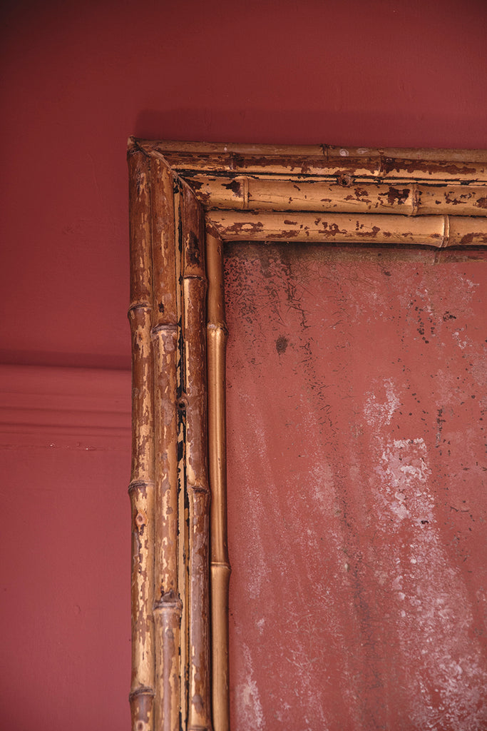 Gilt framed antique mirror. Antiques and interior design Bristol.