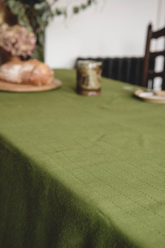UK Made Green Tablecloth
