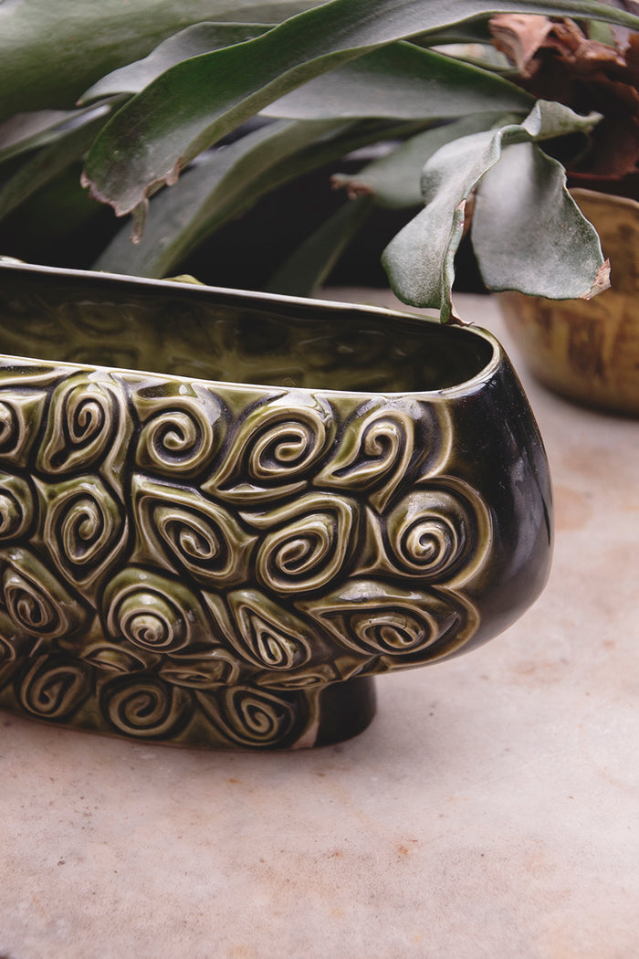 Ceramic vintage vessel. For flowers