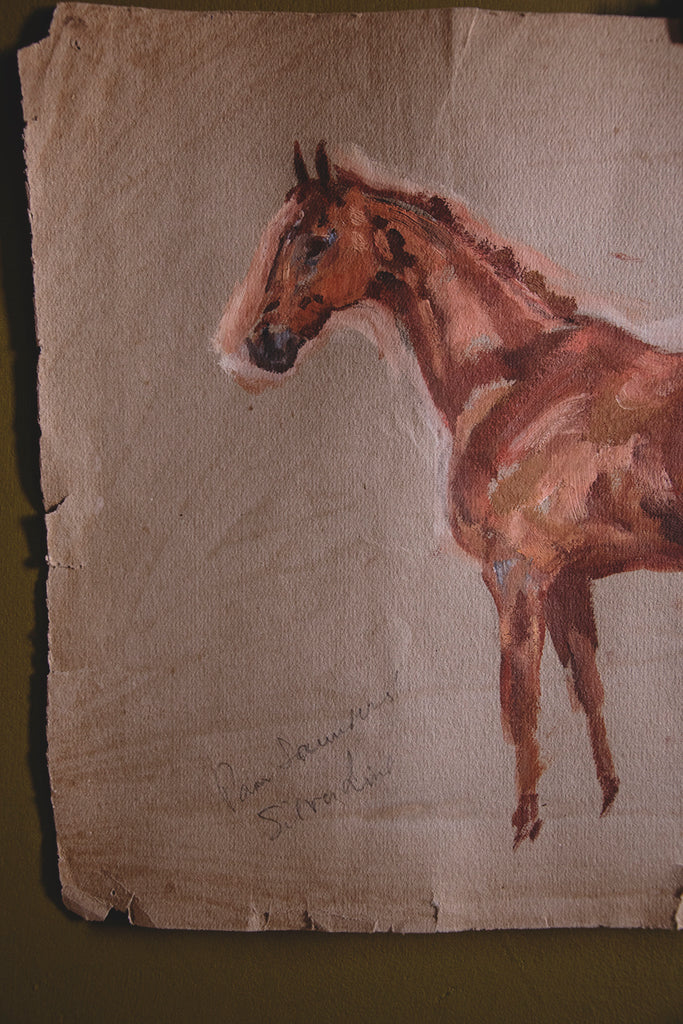 Horse painting on paper #1