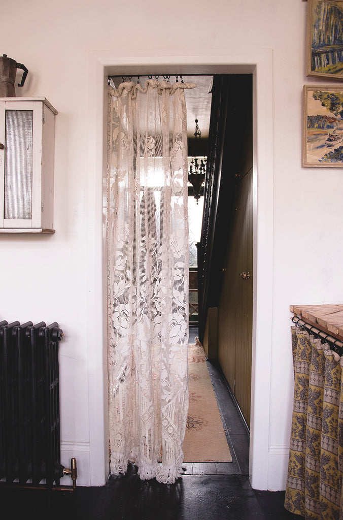 Vintage Lace Door Curtain