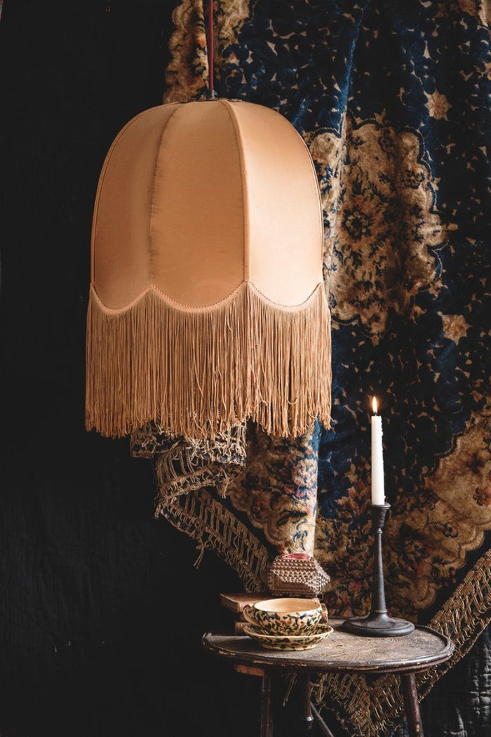 Silk full tasseled light shade. interior design and product styling Bristol Dig Haushizzle