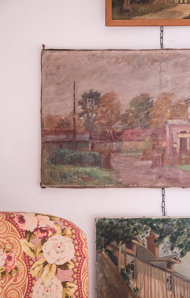 Country house painting on canvas.
