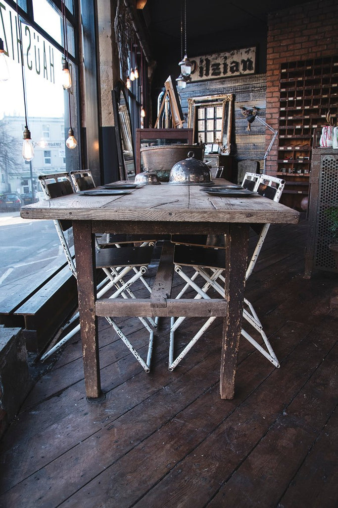 Rustic Antique French Dining Table. 19th Century Wooden Table. Decorative antiques Bristol