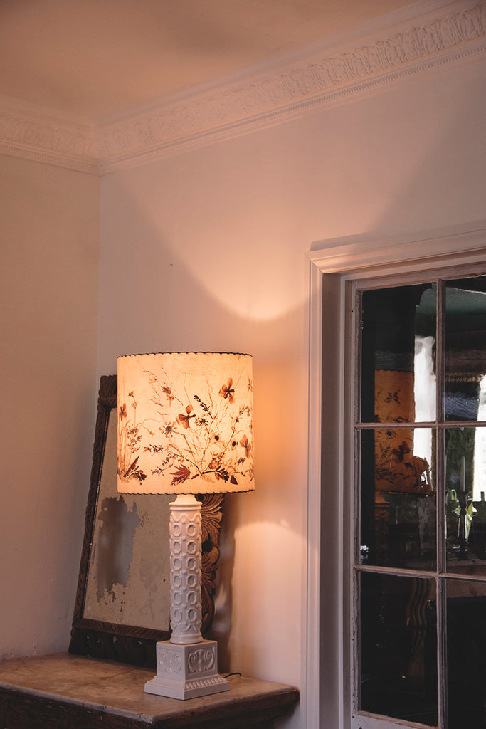 Large White Ceramic Table Lamp