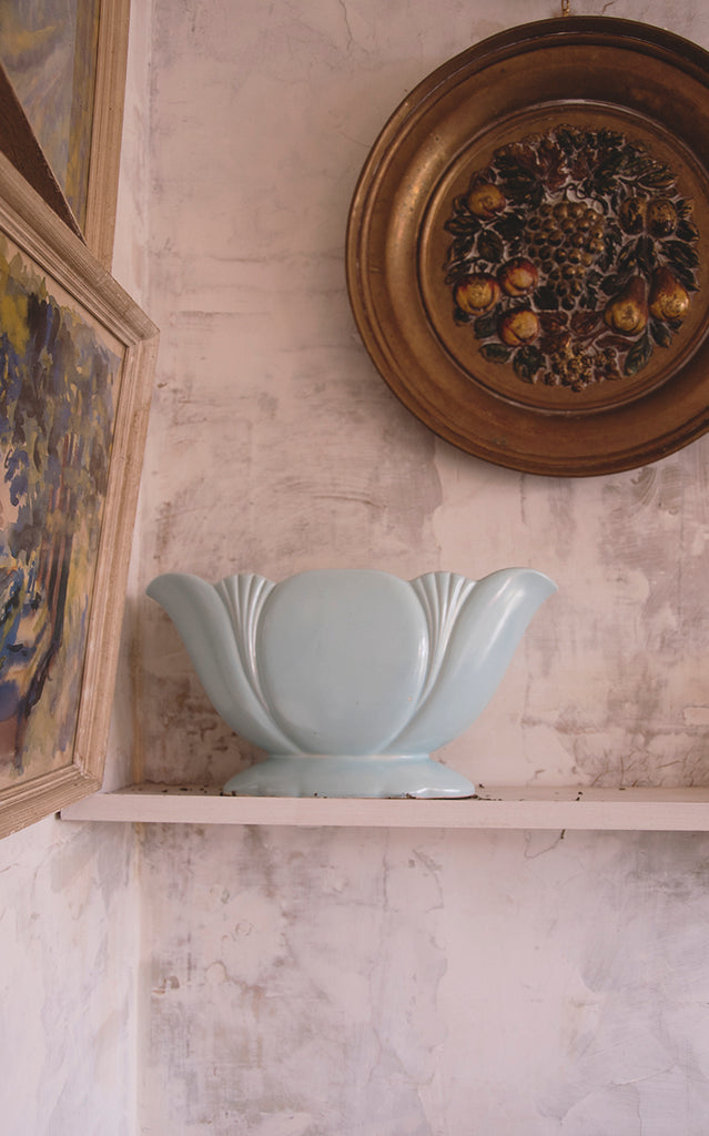 Light Blue Vintage Vessel