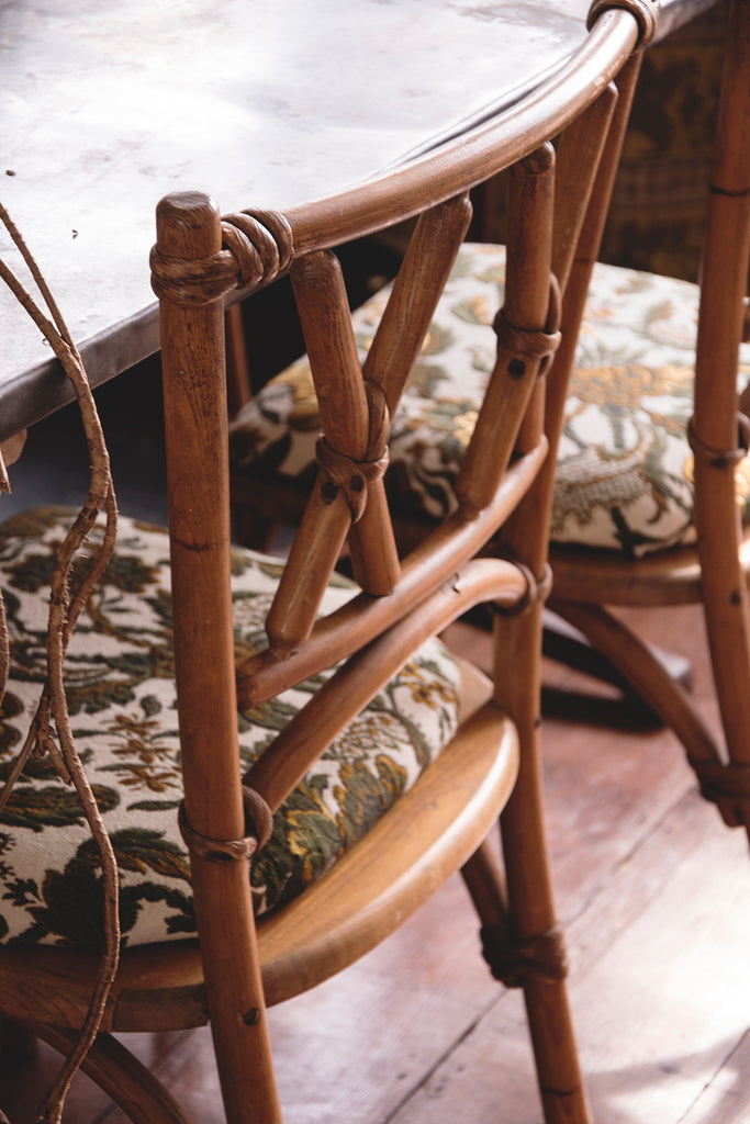 Bentwood Lusty and Sons' faux bamboo early 20th century dining chairs. Dig Haushizzle