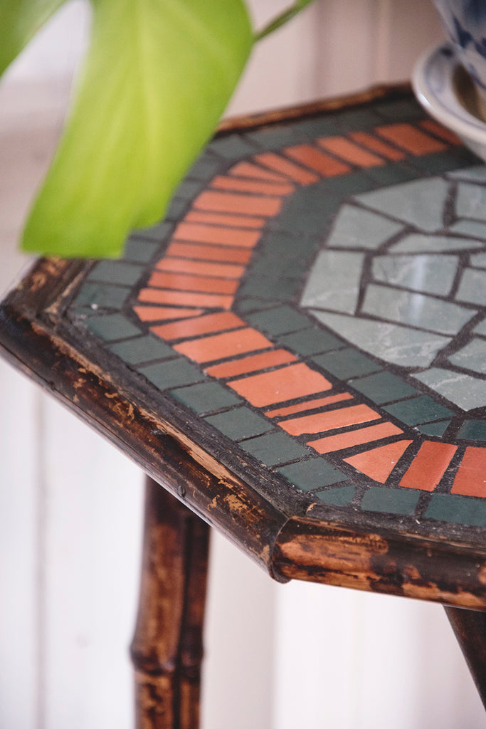 Bamboo and Mosaic Table